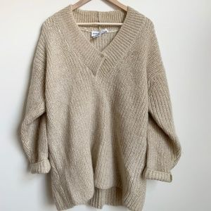 Vintage Mohair Slouchy Chunky Knit Pullover